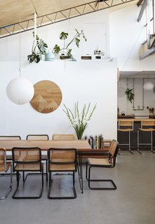 Hudson-Smith builds furniture to stay connected to the pleasure of creating something tangible, including this dining table.