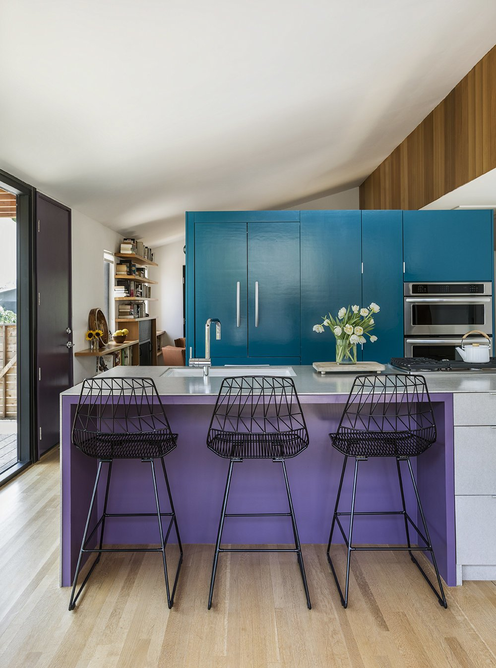 Garden House by Design, Bitches teal and purple kitchen