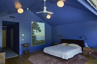 """The painting in the bedroom is title """"In Glendale (Live Oak 2)"""