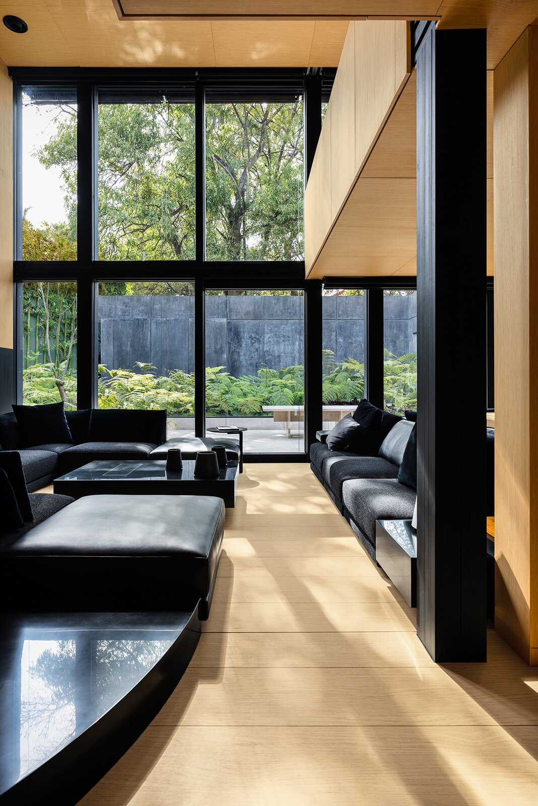 Living, Sectional, Ceiling, Coffee Tables, and Light Hardwood The homes come move-in ready, with appliances, furniture, and finishes chosen by the owner.  Dwell's Favorite Living Photos from A Trailblazing Aluminum Prefab Will Soon Woo U.S. Buyers