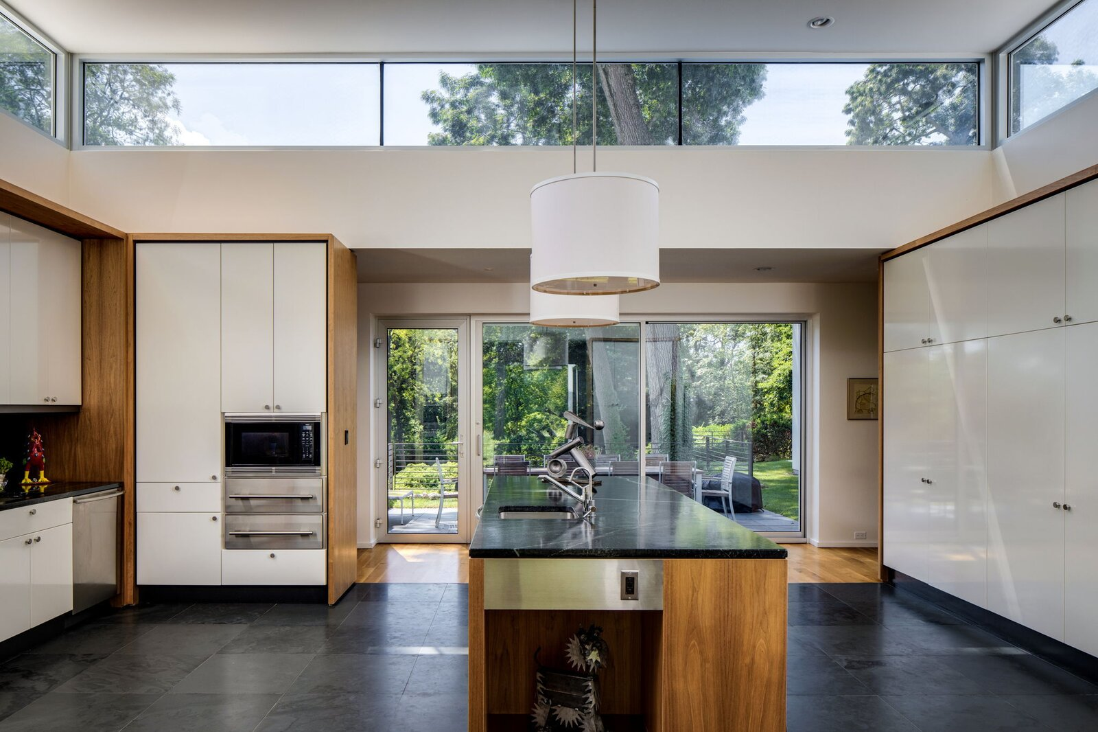 Kitchen New clerestory windows admit abundant light to the kitchen.   Photo 6 of 10 in After a Herculean Renovation, Architect Wallace Harrison's Landmarked Home Seeks a New Caretaker