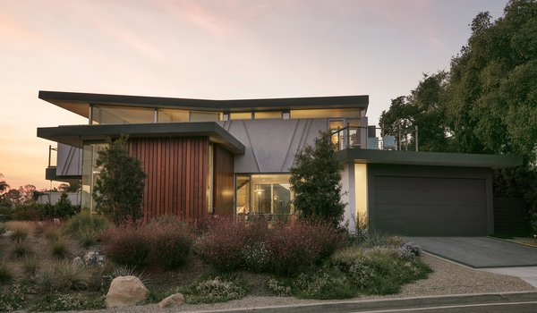 Mesa Contemporary is highlighted by several interesting details, including large second-story cantilevers, exterior elevations built entirely of glass, and a view of Santa Barbara from every room. A clearstory window system gives the appearance of a roof that floats on top of the elegant structure below.
