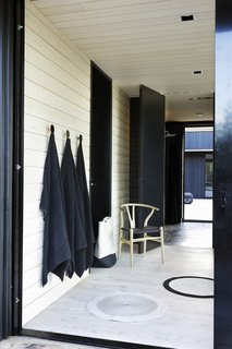 Sauna with a shower and dressing rooms are located in a separate building.