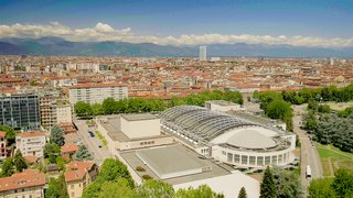 This light-washed convention center was last used in 2006, when Turin hosted the Winter Olympics.