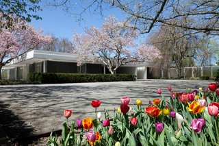 For the Miller House and Garden, Saarinen partnered with landscape architect Daniel Urban Kiley, who also designed gardens at the Gateway Arch National Park in St. Louis, Missouri, and the Art Institute of Chicago.
