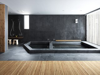 A key feature in SAAD's Strata House is the serene Japanese bath.