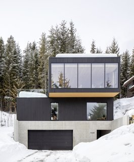 The home's third floor is cantilevered to offer better views and to create an outdoor terrace for the family to enjoy in the warmer months.