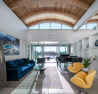 Clerestory windows bring additional light into the main area of the house.