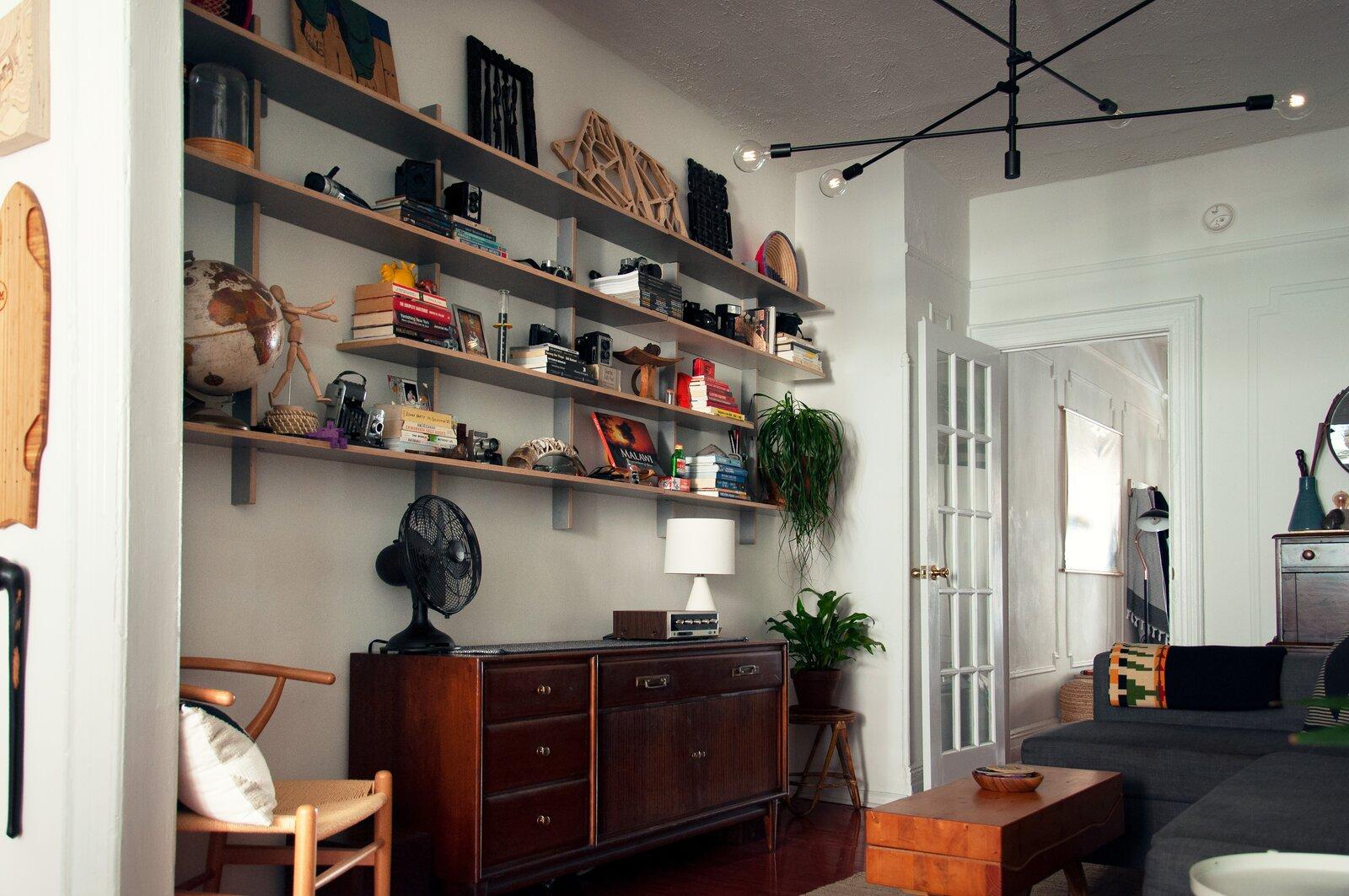 Queens rental apartment by Jordan Meerdink and Shalini Amin living room