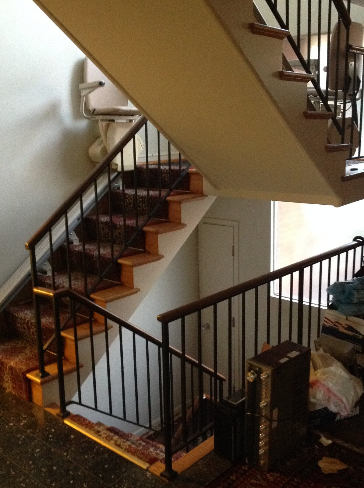 Before: Stephenson House staircase