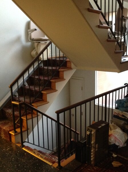 Before: The original staircase was somewhat enclosed.