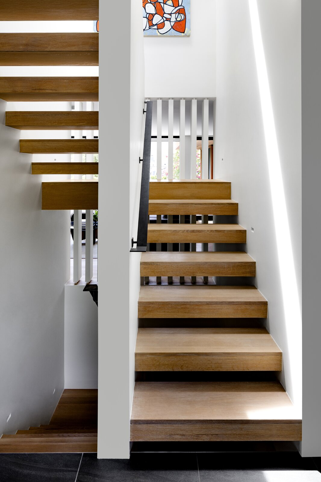 Stephenson House by Assembledge+ and Fowlkes Studio staircase