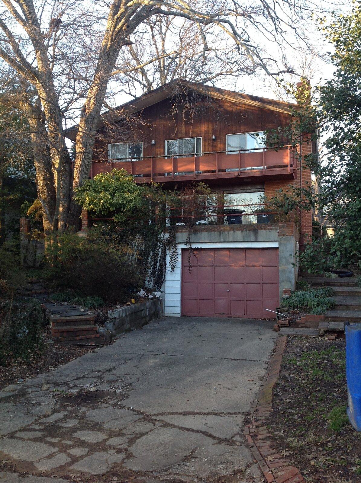 Before: Stephenson House rear facade