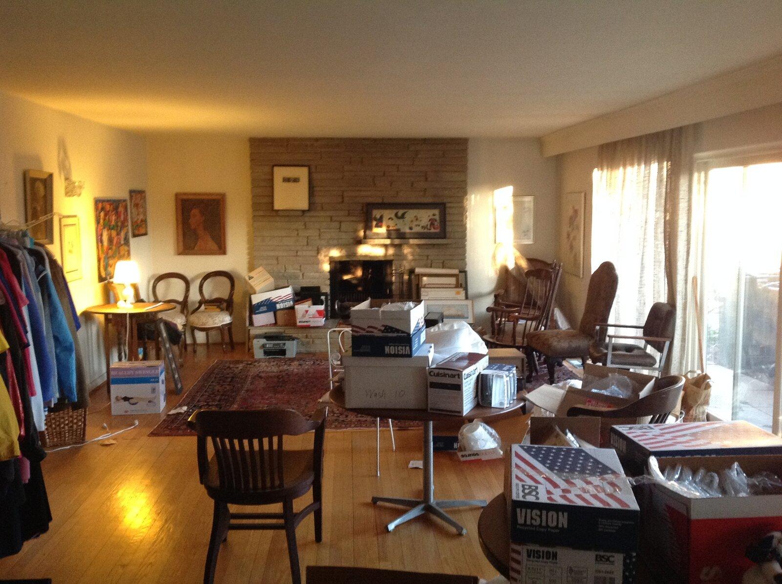 Before: Stephenson House living room