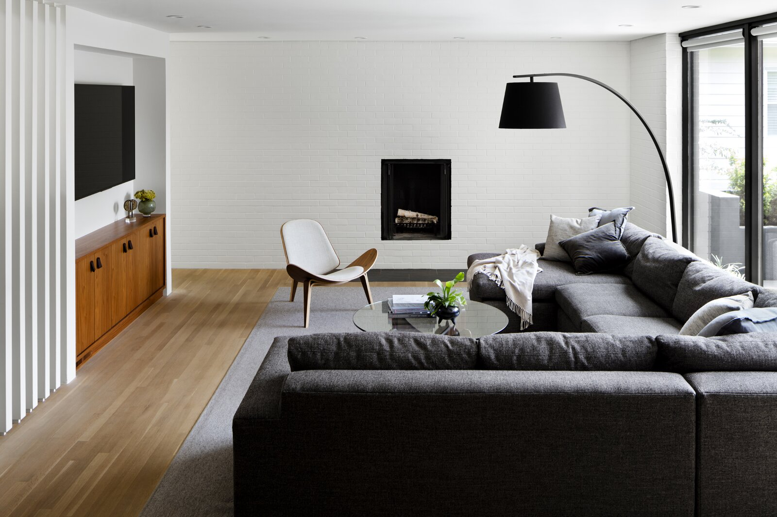 Stephenson House by Assembledge+ and Fowlkes Studio living room