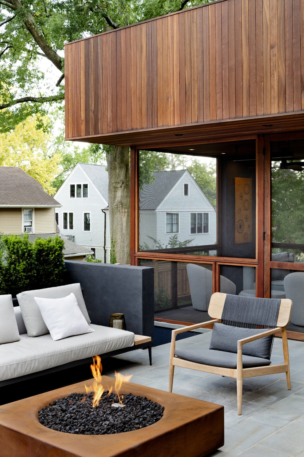 Stephenson House by Assembledge+ and Fowlkes Studio terrace