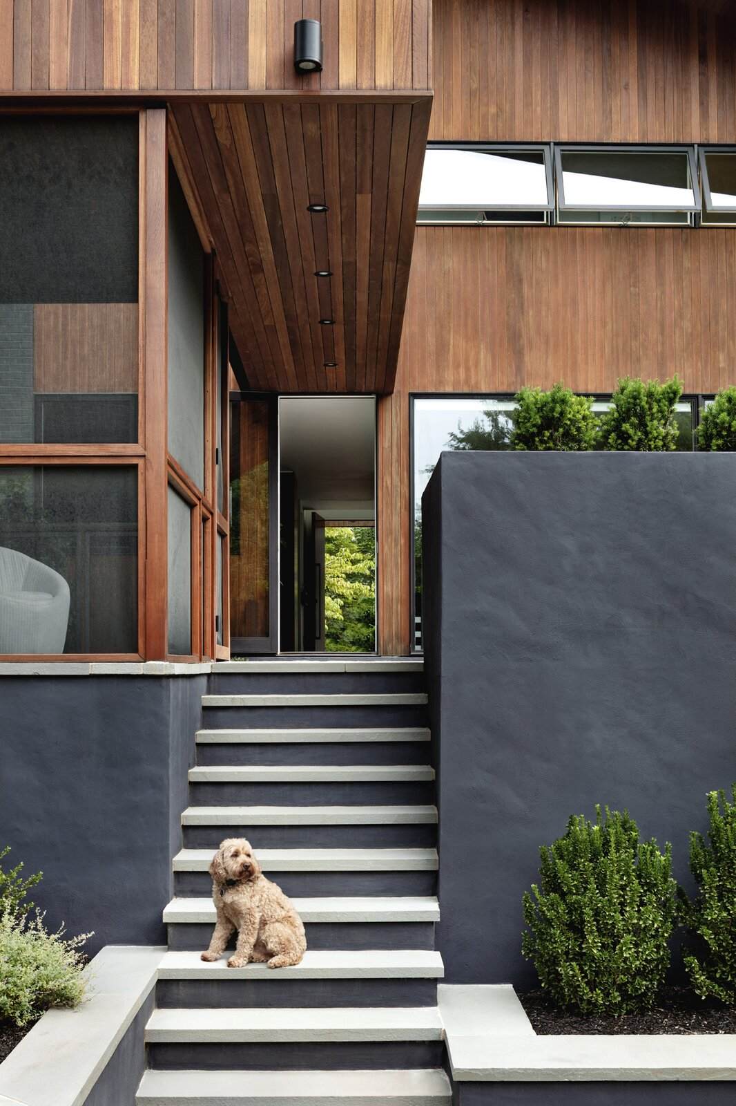 Stephenson House by Assembledge+ and Fowlkes Studio rear stair