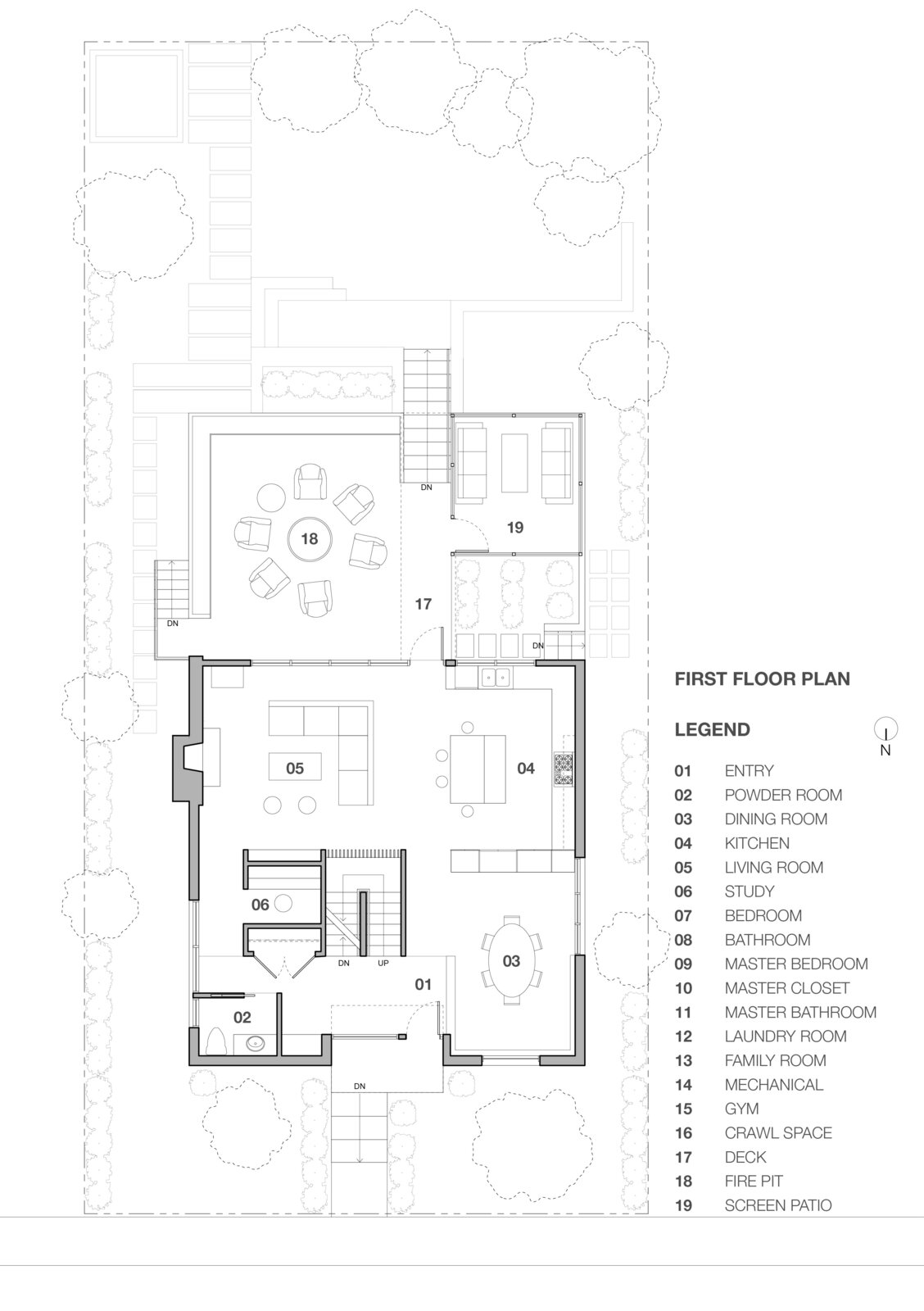 First floor plan of Stephenson House by Assembledge+ and Fowles Studio