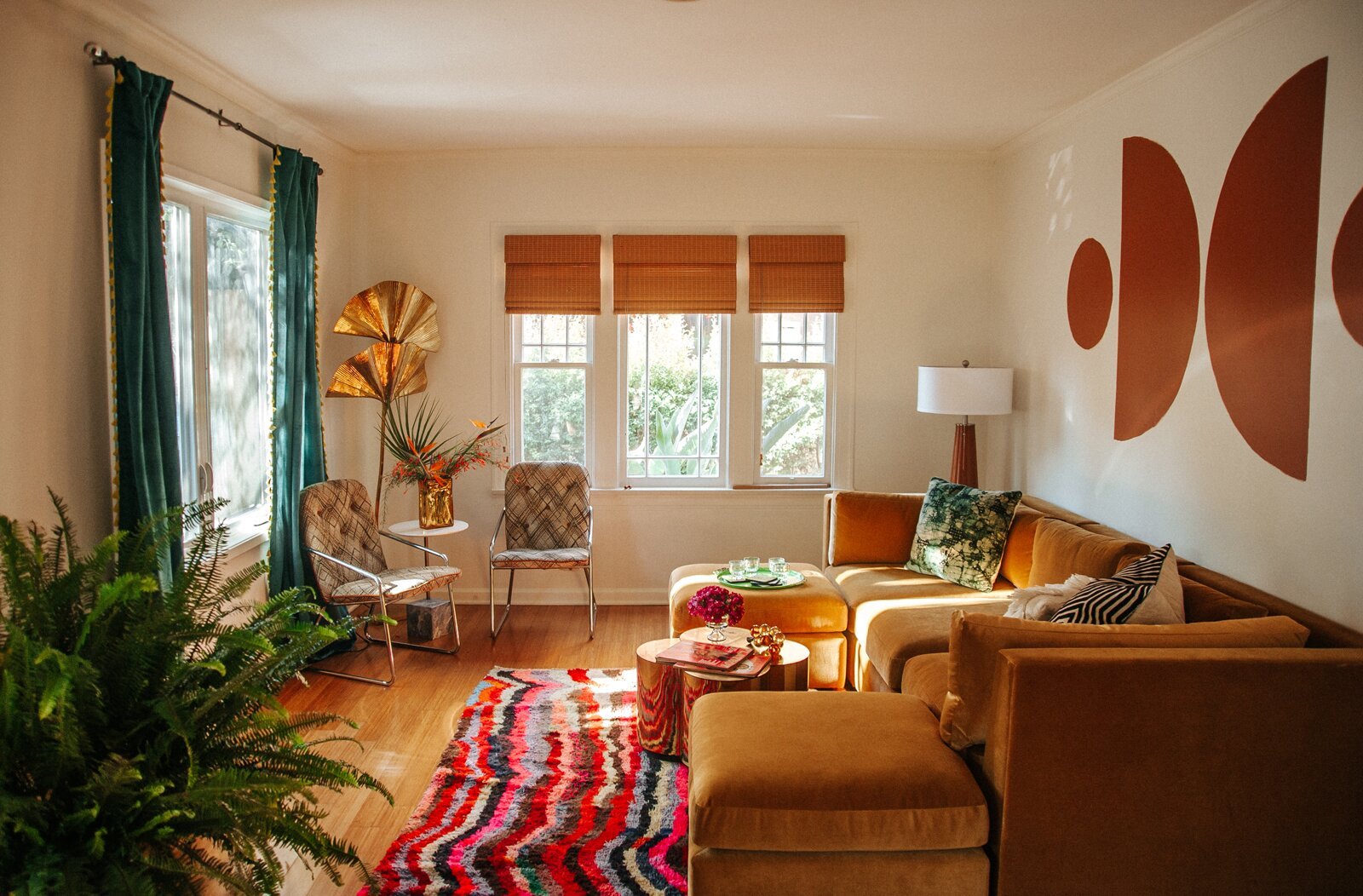 Mamrie Hart home living room by Claire Thomas