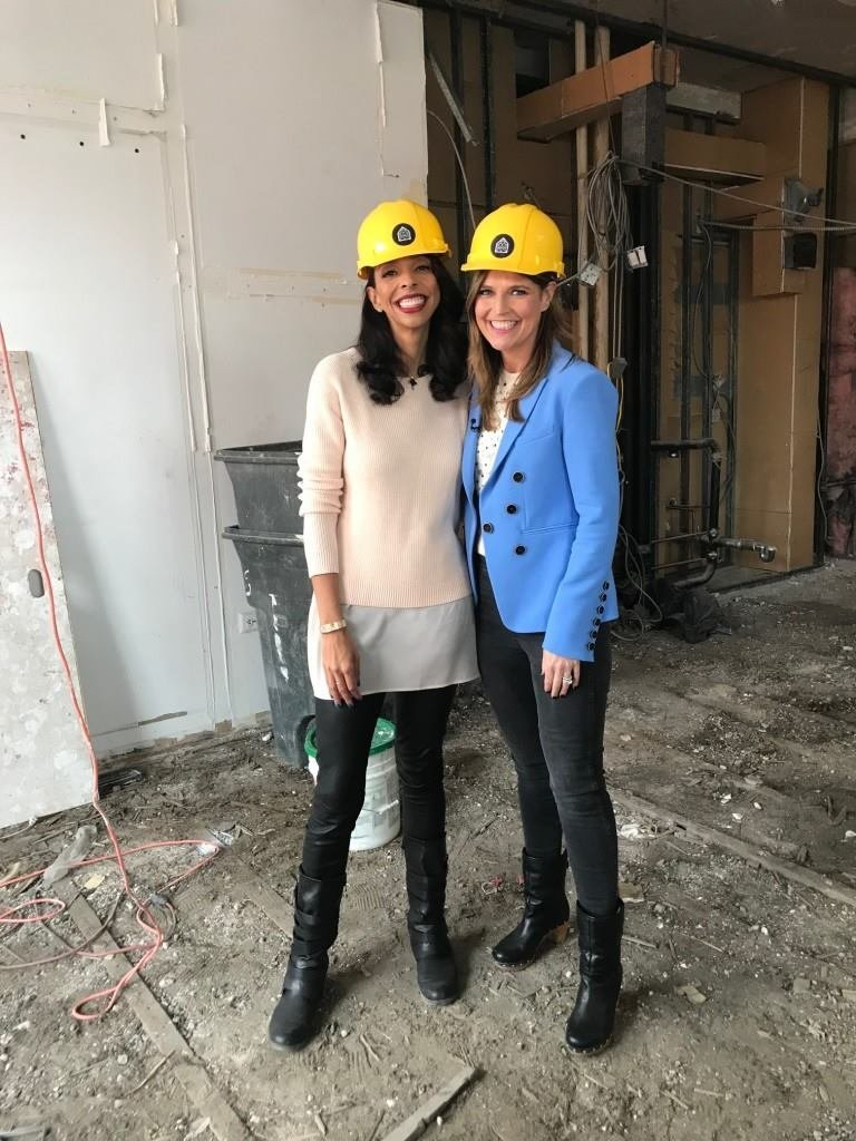 In a guest segment on NBC's Today Show, CEO and architect Jean Brownhill of Sweeten shows anchor Savannah Guthrie a gut renovation in progress.  Photo 5 of 20 in Black-Owned Design Businesses You Can Support Right Now