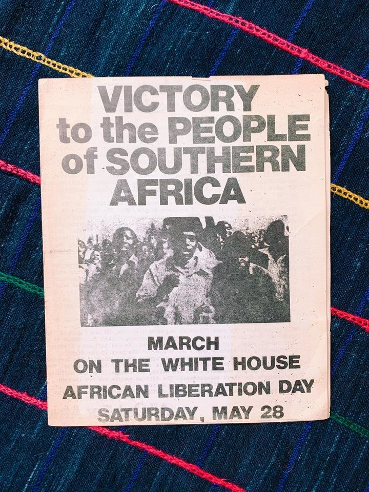 """BLK MKT Vintage believes that """"Black storytelling is paramount,"""" and that artifacts such as this African Liberation Day protest pamphlet narrate the richness of Black lived experiences.   Photo 7 of 20 in Black-Owned Design Businesses You Can Support Right Now"""