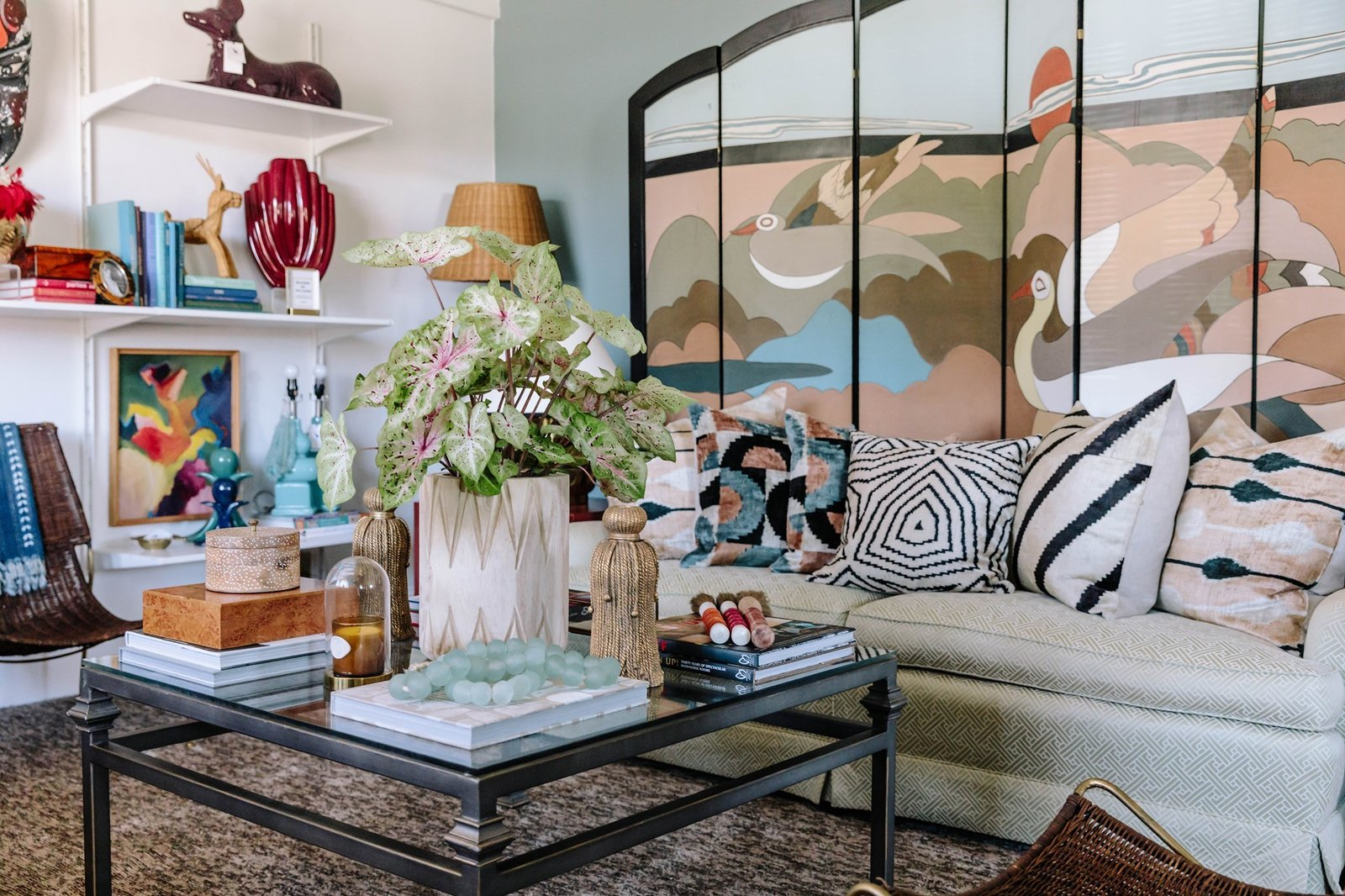 Ariene Bethea is the creator of Dressing Rooms Interiors Studio, which offers an array of artistic vintage pieces in striking color combinations, graphics, and patterns.   Photo 17 of 20 in Black-Owned Design Businesses You Can Support Right Now