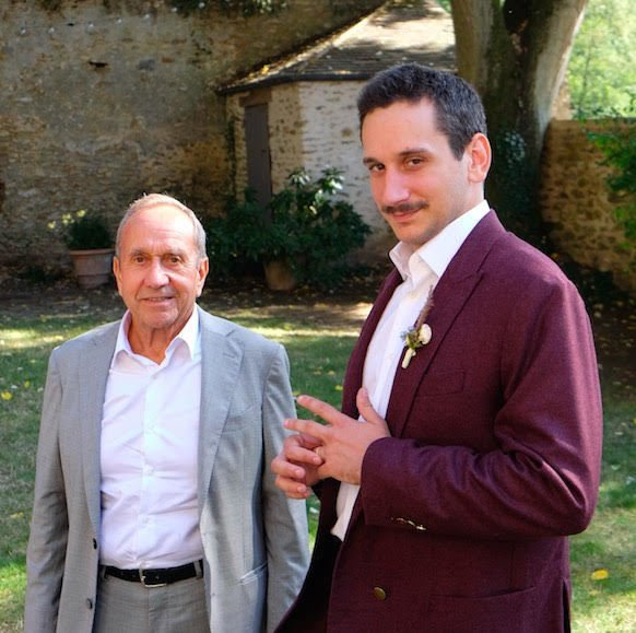 Jean-Christophe Petillault with his father, Georges.  Photo 8 of 17 in 8 Designers and Architects Share the Crucial Lessons They Learned From Dad