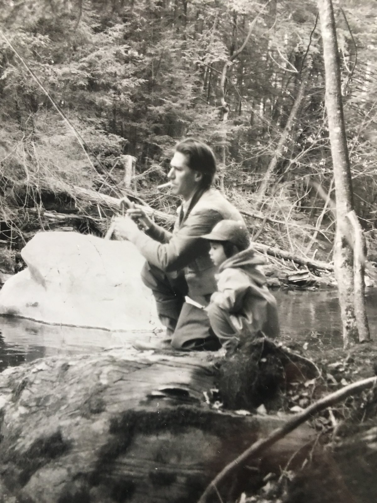Tei Carpenter accompanies her father, James, on a fly fishing adventure. It's a beloved tradition that the duo enjoy to this day.  Photo 14 of 17 in 8 Designers and Architects Share the Crucial Lessons They Learned From Dad