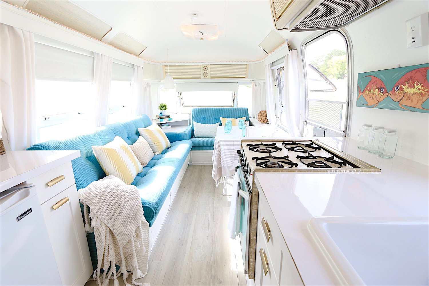 After: 1976 Airstream Renovation by Lynne Knowlton