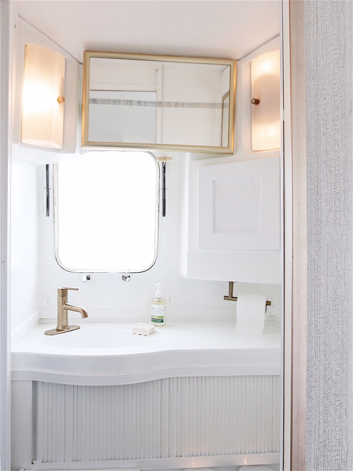 After: 1976 Airstream Renovation by Lynne Knowlton bathroom
