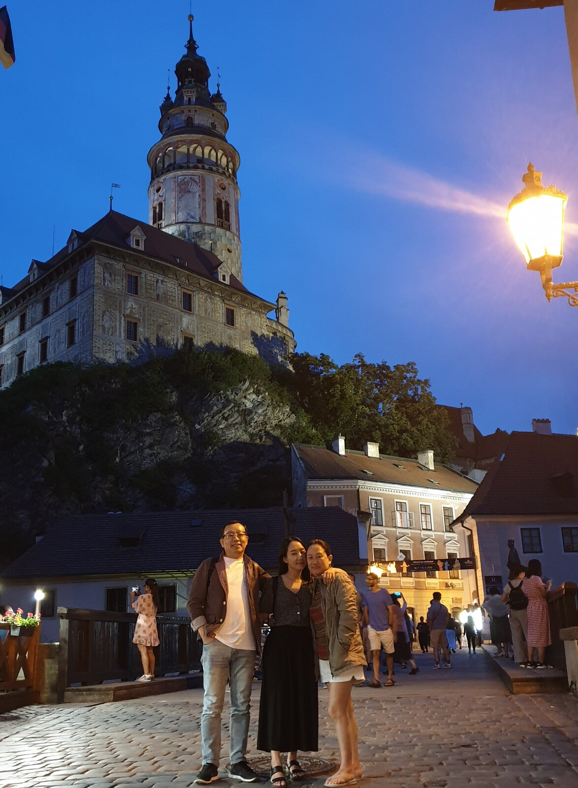 Detroit-based artist and designer Nina Cho shares a photo from a summer vacation she took to Český Krumlov, Czech Republic, with her father, Sunghwan Cho, and her mother, Eunjung Oh.  Photo 2 of 10 in 10 Designers and Architects Share What They're Most Thankful for in a Turbulent Year