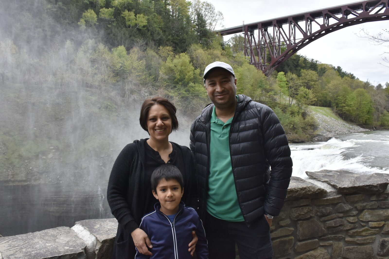 Director and buildings lead at IBI Group Ari Bose enjoys a trip to Letchworth State Park in Rochester, New York, with his wife, Minali Singh, and their son Vian Singh Bose.  Photo 7 of 10 in 10 Designers and Architects Share What They're Most Thankful for in a Turbulent Year