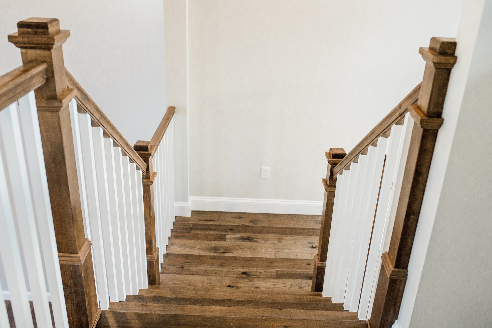 Staircase, Wood Tread, and Metal Railing Staircase  Hole in One
