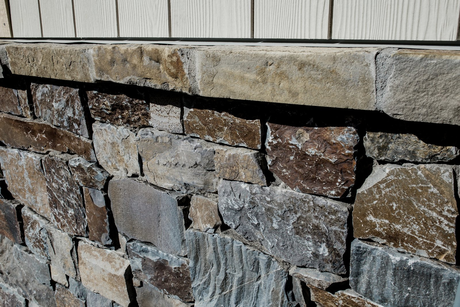 Exterior, House Building Type, and Stone Siding Material Exterior Stone  Hole in One