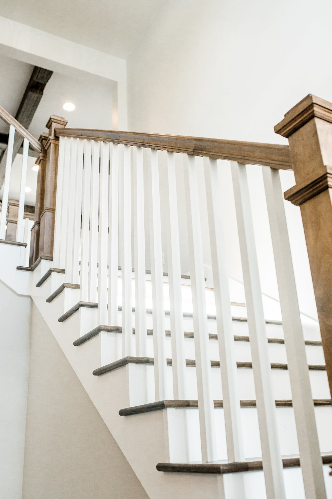 Staircase, Wood Railing, and Wood Tread Staircase  Hole in One