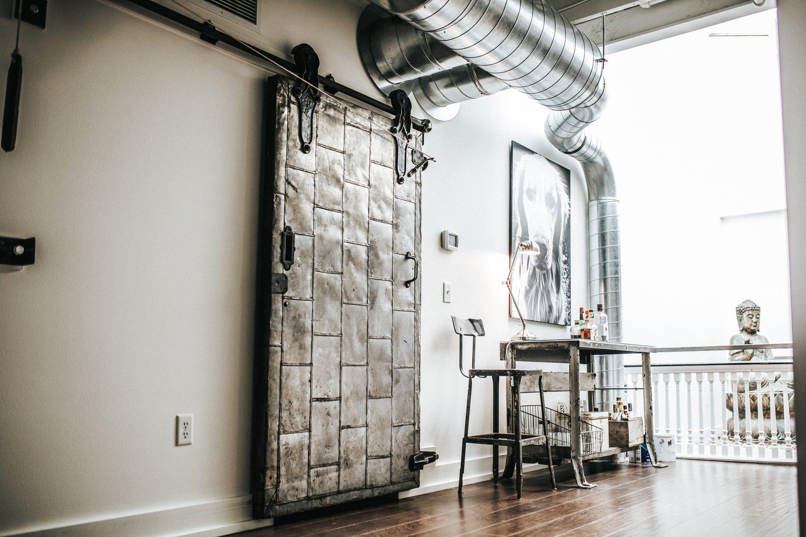 Doors, Metal, Interior, and Sliding Door Type Metal Sliding Barn Door  Frindle