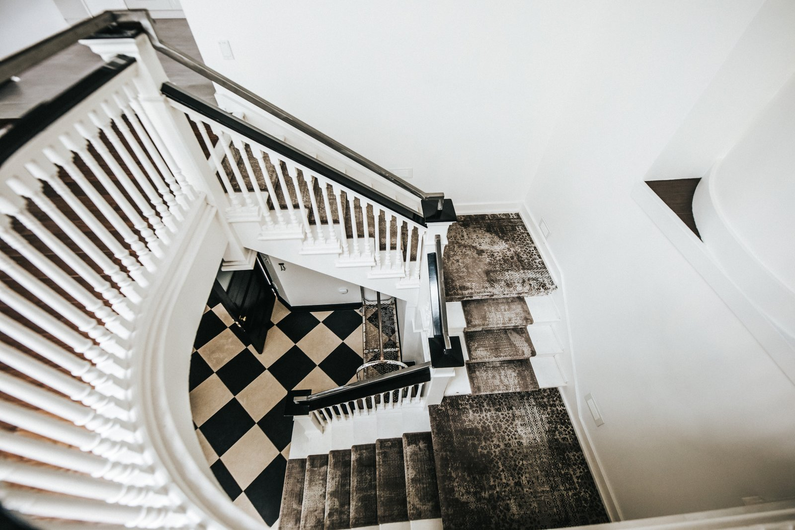 Staircase, Wood Railing, and Wood Tread Staircase  Frindle