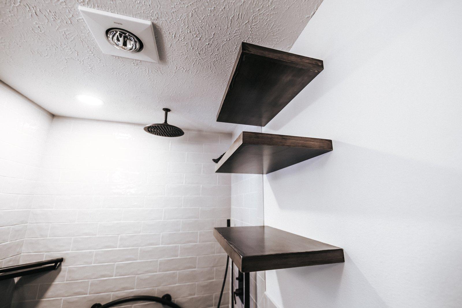 Bath Room Open Shelving  FLW Fan