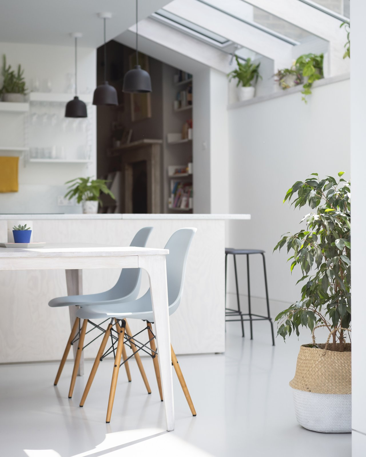 The dining and kitchen space in A Brockley Side by CAN.