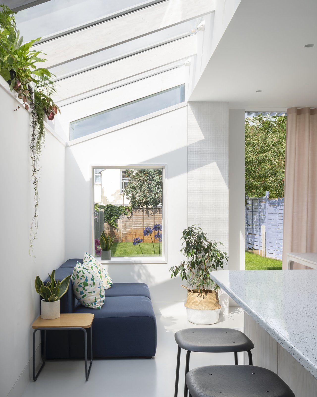 Living room and garden at A Brockley Side by CAN