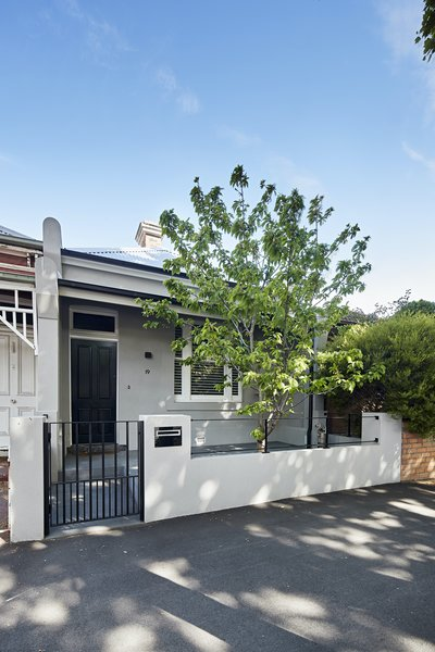 The home is a traditional, single-fronted Victorian terrace. The architects reinstated many of the original features that were missing from the front of the home before the renovation.