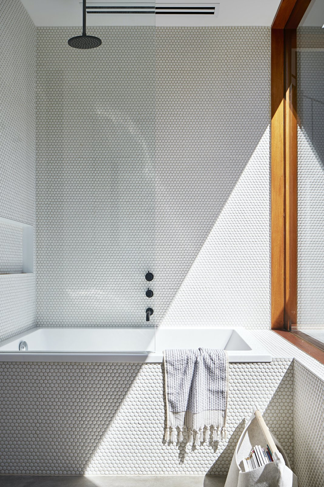 Bathroom at Charles St by Lande Architects.