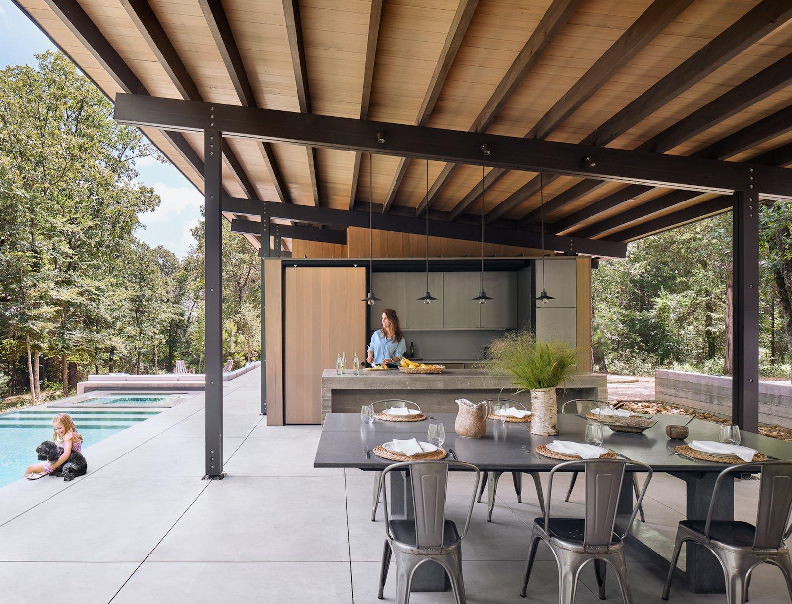 Aegan Pool House outdoor kitchen