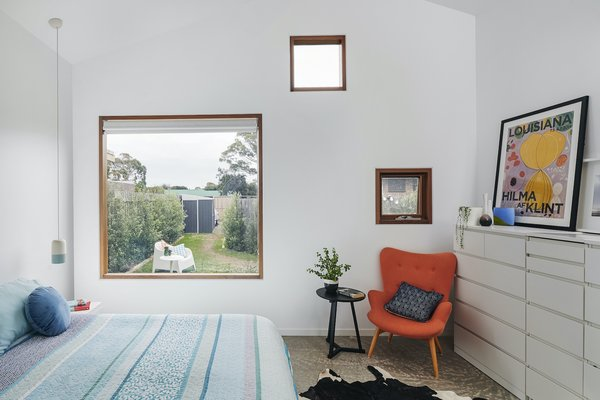 The master suite has a northerly aspect through staggered windows that cleverly frame or obstruct views. This is the most private of the three pavilions.