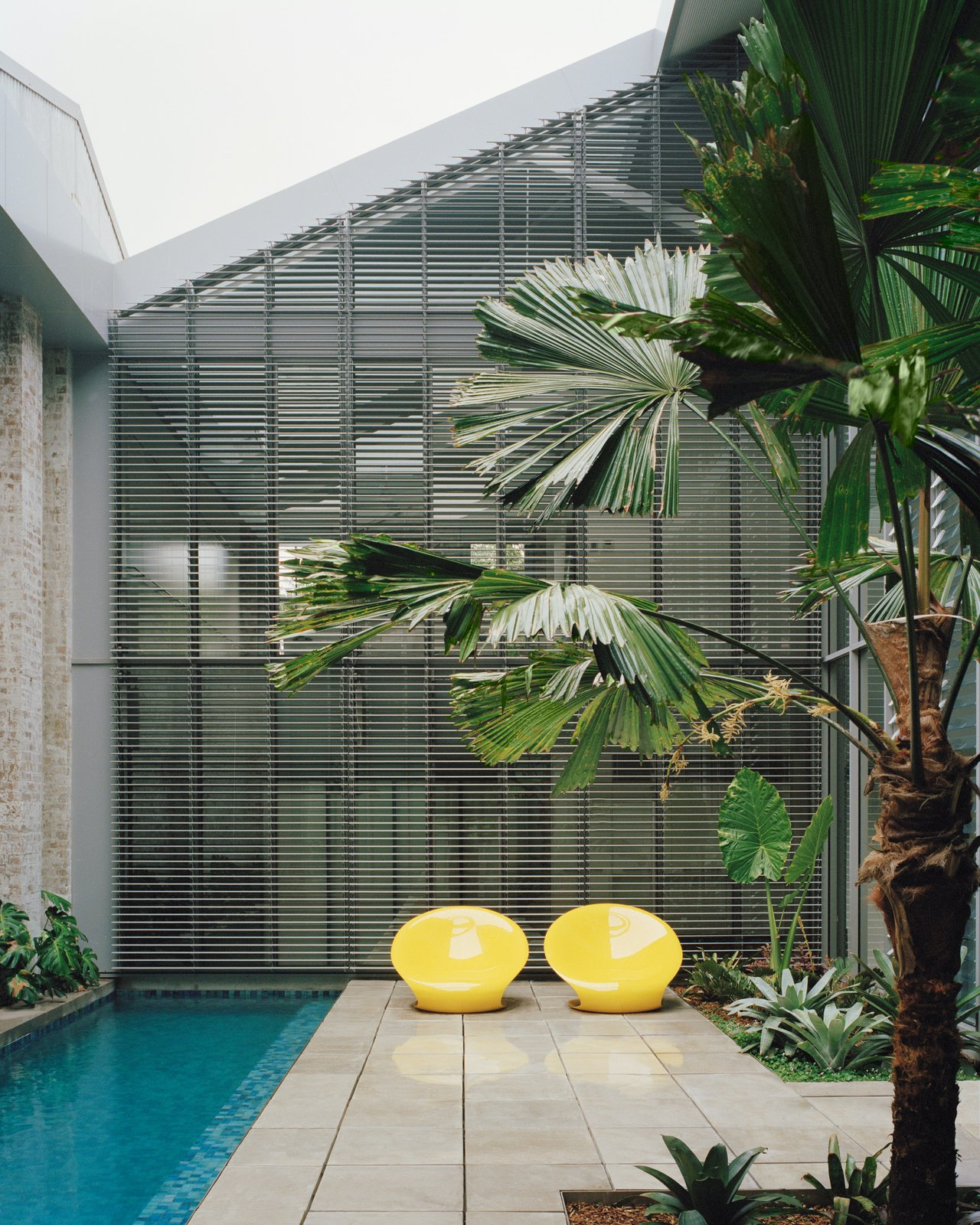 Pool area at Redfern Warehouse by Ian Moore Architects.