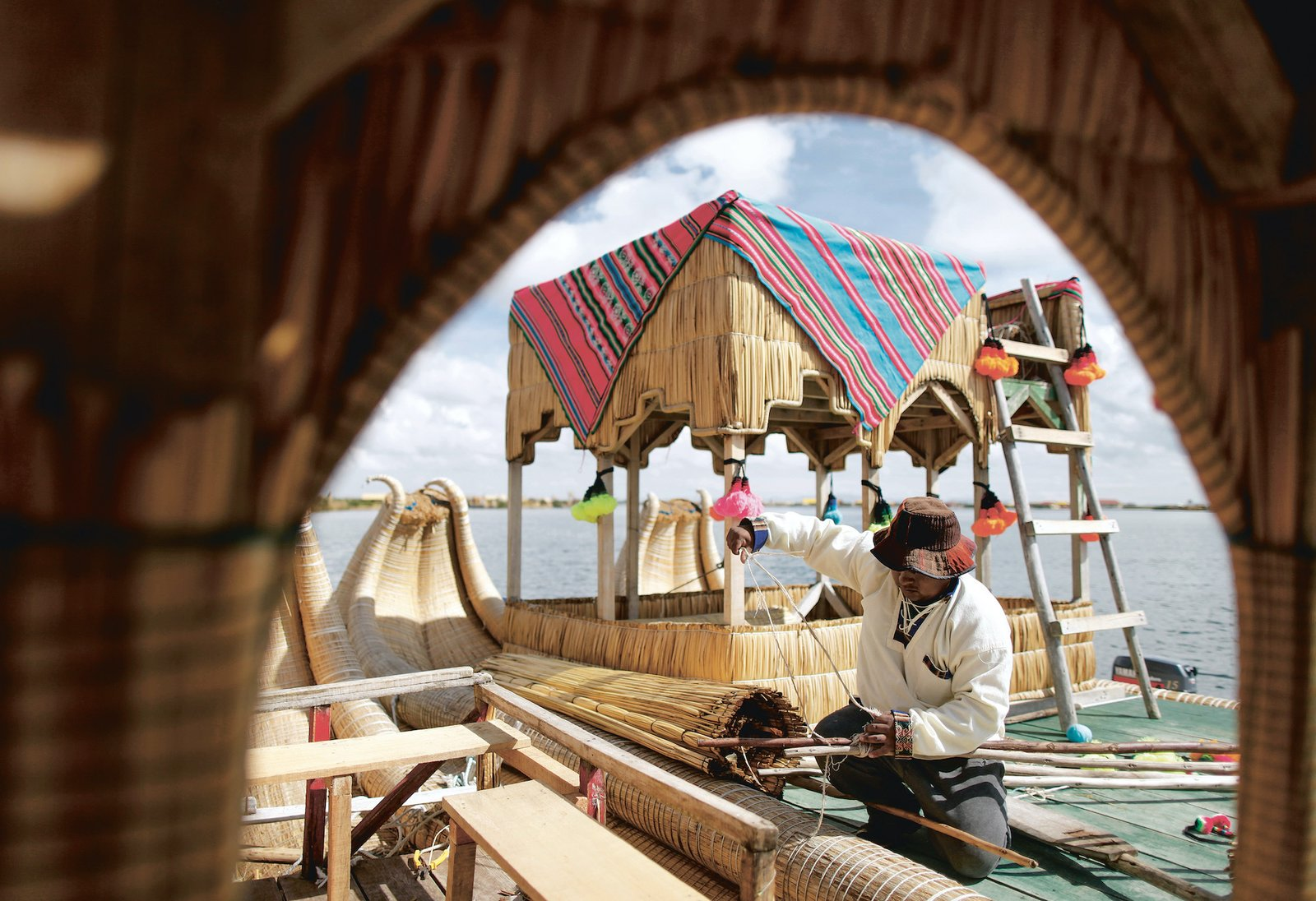The Uros have built their entire civilization—including the islands and all structure—from the locally grown totora reed. Today, the 4,500-year-old Uros civilization survives dependent upon tourism.  Photo 7 of 8 in We May Already Have the Technology to Survive a Climate Crisis—We've Just Been Ignoring It