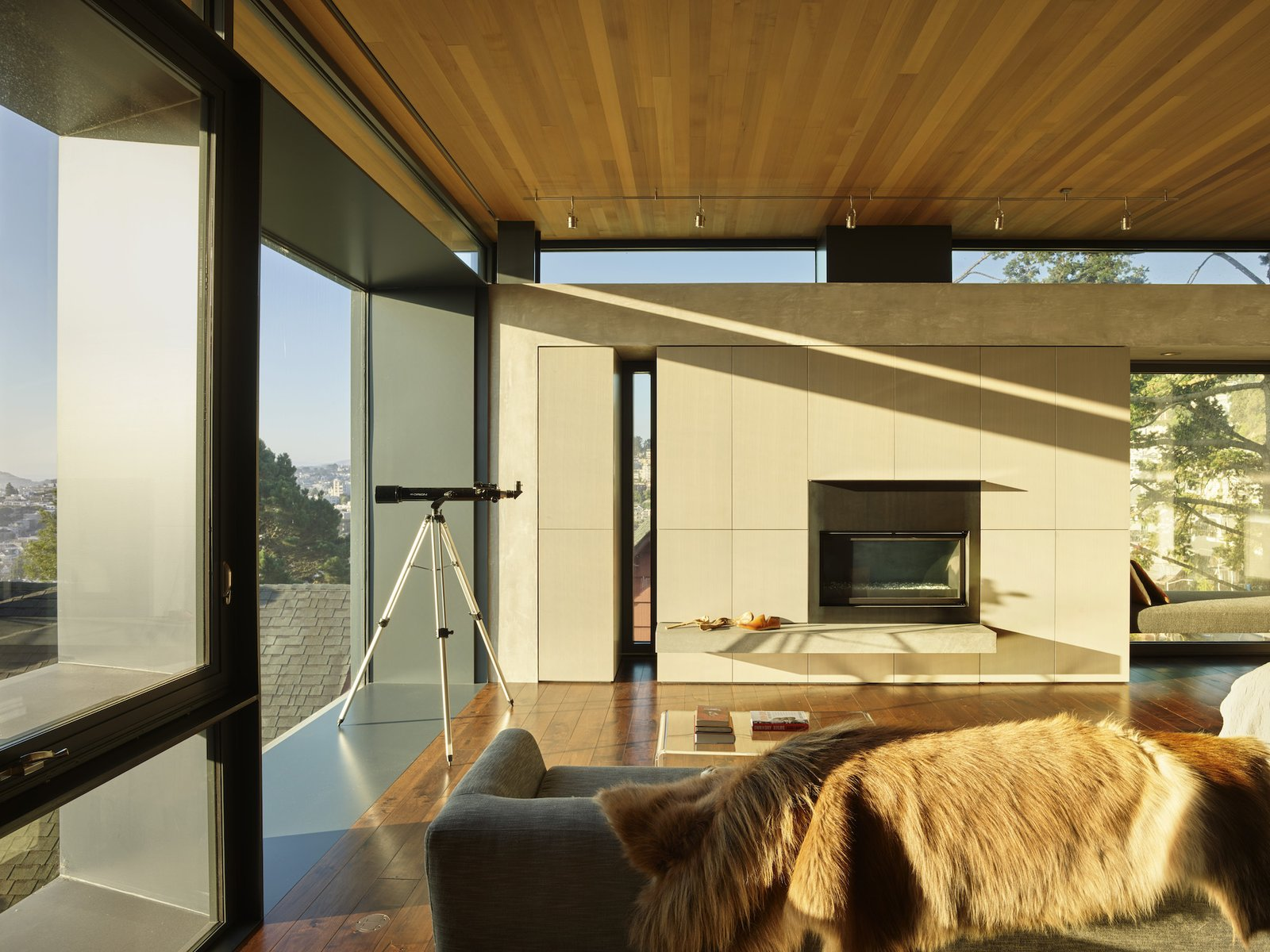 Living room of Terrace House by Aidlin Darling Design.