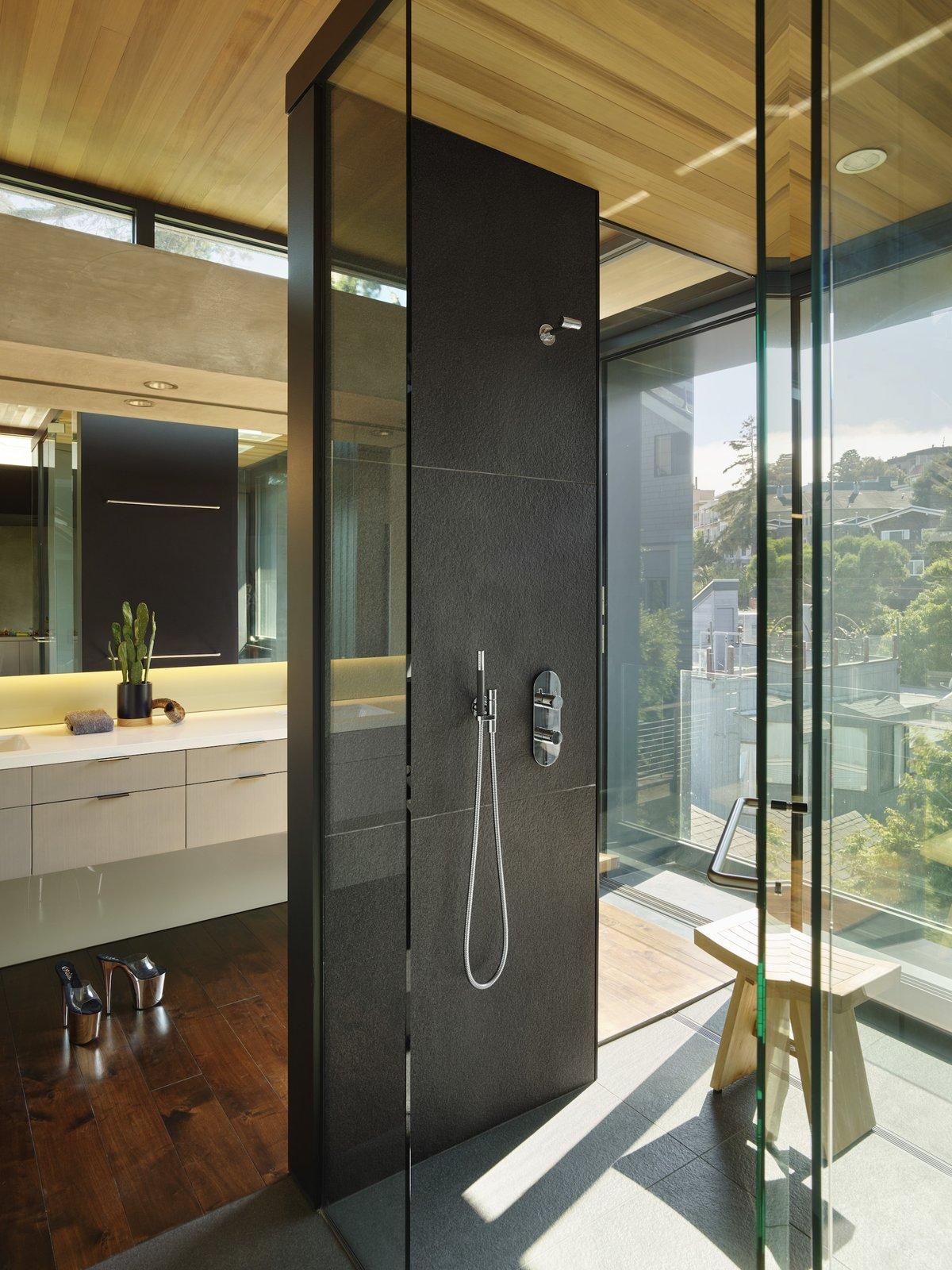 Bathroom at Terrace House by Aidlin Darling Design.