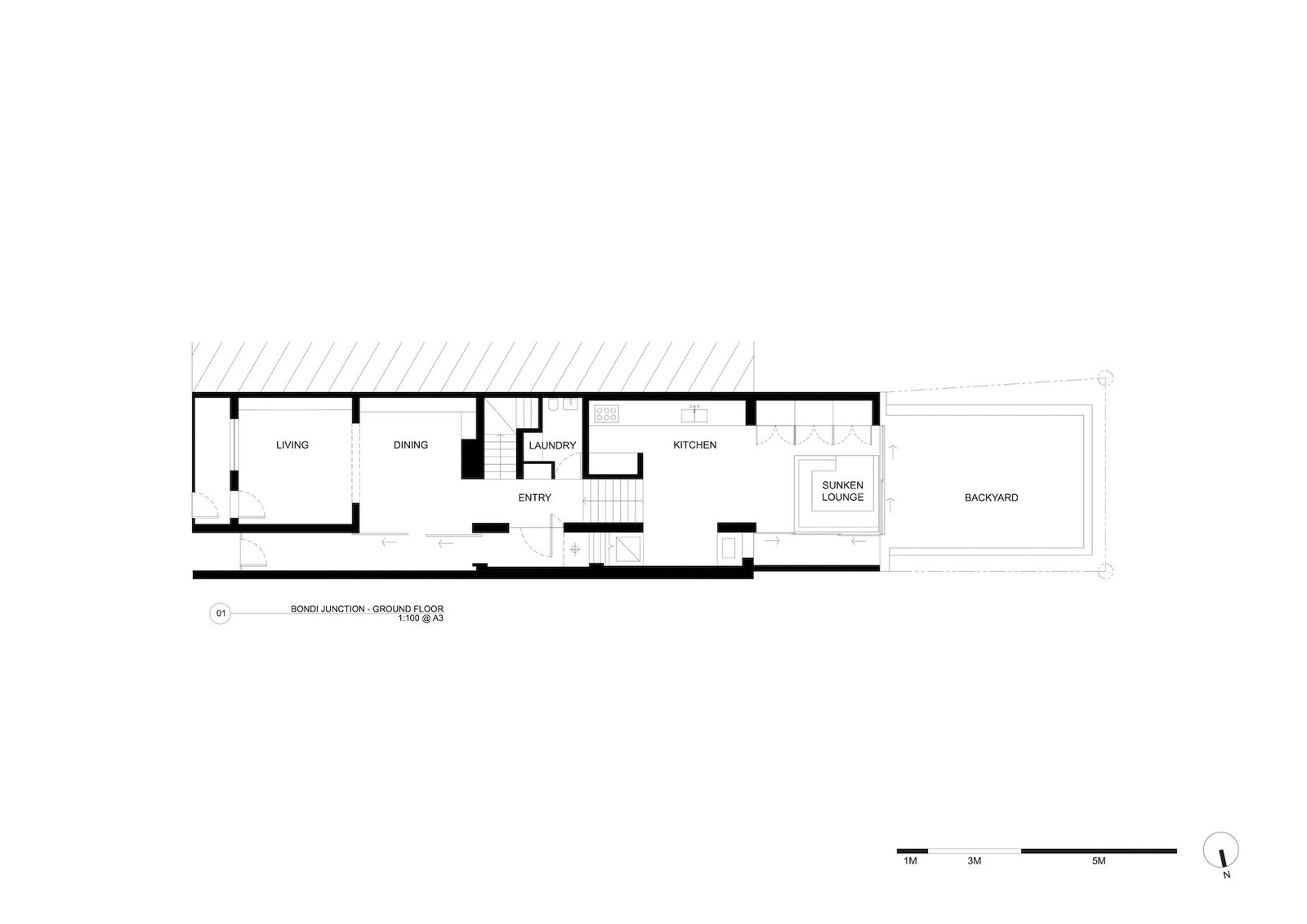 Ground floor plan of Bondi Junction House by Alexander & CO.