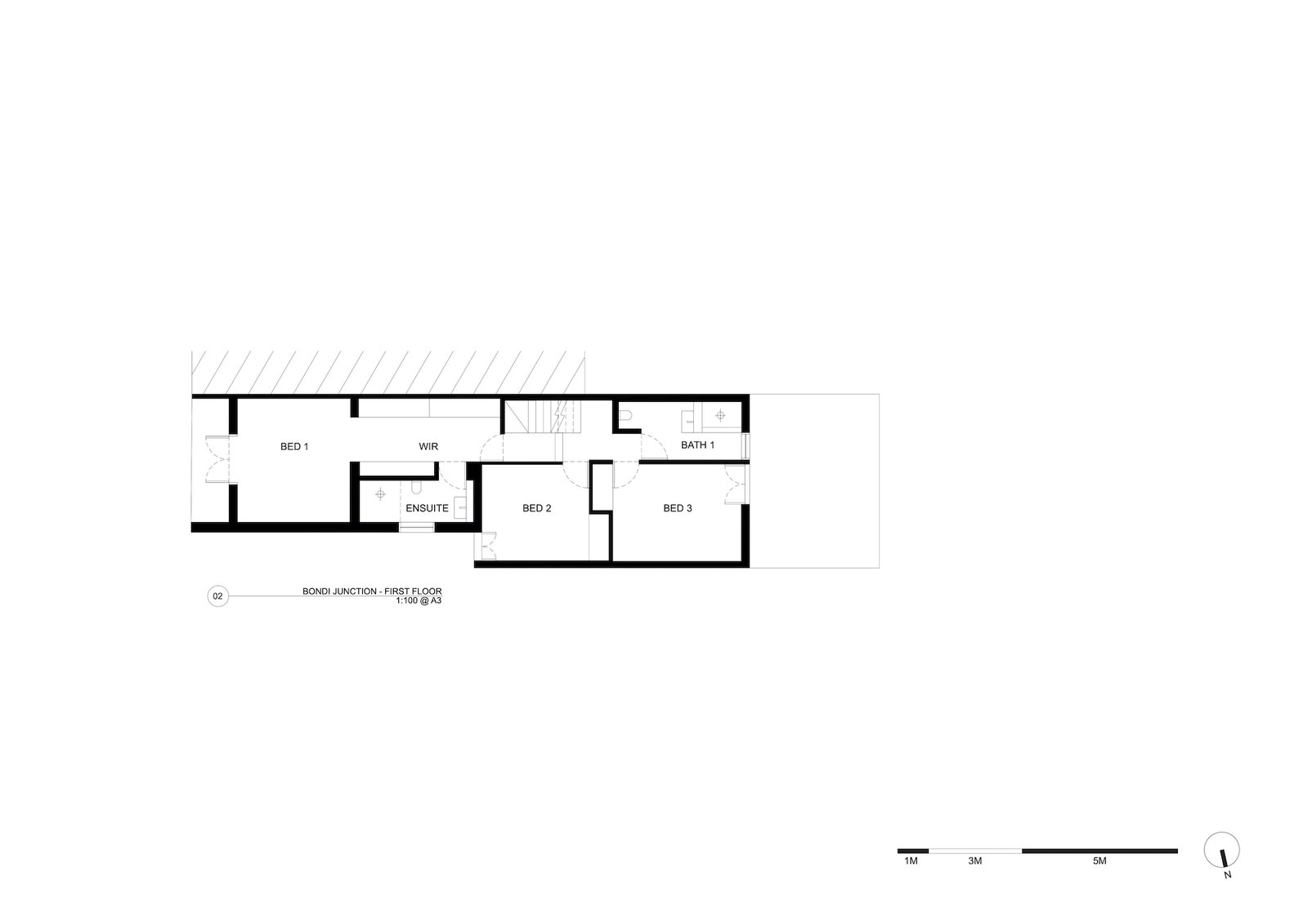 First floor plan of Bondi Junction House by Alexander & CO.